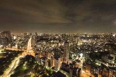 View from the Tokyo tower at night Royalty Free Stock Image