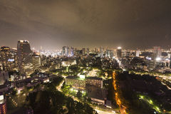 View from the Tokyo tower at night Royalty Free Stock Photography
