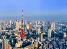 View of Tokyo tower from Roppongi Hill  Tokyo,Japan Royalty Free Stock Photos
