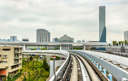 View of Tokyo from Yurikamome line Royalty Free Stock Photos