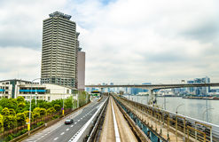 View of Tokyo from Yurikamome line Stock Image