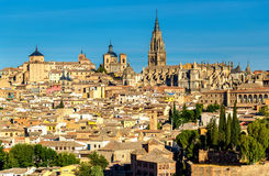 View of Toledo with the Cathedral - Spain Royalty Free Stock Images