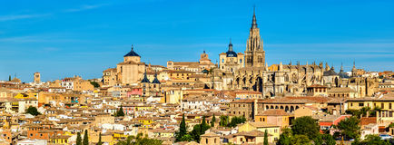 View of Toledo with the Cathedral - Spain Stock Photos