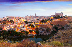 View of Toledo from hill in summer morning Royalty Free Stock Photography