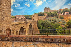 View of Toledo and old bridge Stock Photography