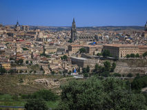 View of Toledo from the opposite bank of the river Tajo, Castill Royalty Free Stock Photo
