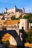 View of Toledo with Puente de Alcantara Stock Photos