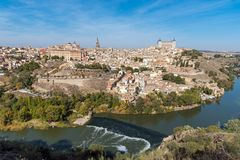 View of Toledo with the river Tagus Stock Photography