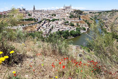 View of Toledo and the Tagus River Royalty Free Stock Images
