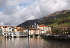 View of Tolosa and Oria river Royalty Free Stock Photography