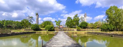 View of the Tomb of King Thieu Tri in Hue. A panorama photo of the main part of the Tomb of King Thieu Tri near Hue, Vietnam Royalty Free Stock Image