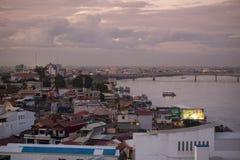 CAMBODIA PHNOM PENH TONLE SAP RIVER CITY Stock Photo