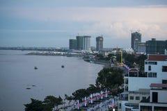 CAMBODIA PHNOM PENH TONLE SAP RIVER CITY Stock Image