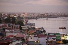CAMBODIA PHNOM PENH TONLE SAP RIVER CITY Stock Photos