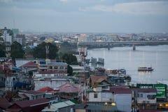 CAMBODIA PHNOM PENH TONLE SAP RIVER CITY Stock Images