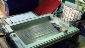 View of tool for machining circuit boards stock video