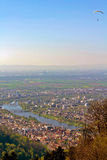 View from the Top. The View of The Medieval City of Heidelberg from the King's Throne royalty free stock photo