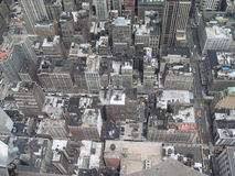 View from the top. Looking down from top of Empire State Building Stock Photo