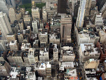 View from the top. Of the Empire State Building in New York City Royalty Free Stock Images