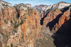 View from top of Angels Landing Royalty Free Stock Photography