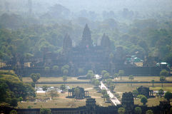 View on top of Angkor Wat at morning in Siemreap city in Cambodia at morning Stock Photo