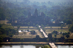 View on top of Angkor Wat at morning in Siemreap city in Cambodia at morning Stock Images