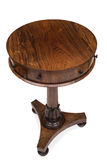 View of Top of an Antique Wooden End Drum Table Stock Photography