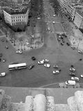 View from the top of the Arc du Triomphe Royalty Free Stock Images