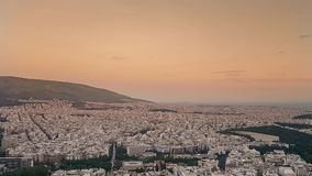View from the top of Athens in Greece. stock video