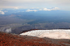 View from the top of the Avachinskiy volcano. Stock Photography