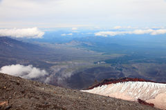 View from the top of the Avachinskiy volcano. Royalty Free Stock Photography