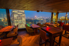View from the top of Bangkok Building rooftop bar & restaurant Stock Photo