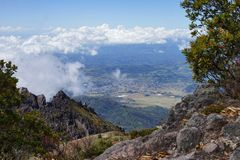 A view from the top of Baru Volcano, Panama Royalty Free Stock Image