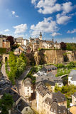 View from top of beautiful Luxemburg city Stock Photos