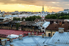 View from the top of the bell tower of St. Nicholas Cathedral at Royalty Free Stock Images