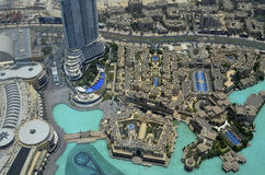 View,on top, big city,Dubai,roof, Stock Photos