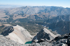 View from the Top of Borah. Mountains/Lakes from atop of Mount Borah Stock Image