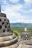 View from top of  Borobudur Temple Royalty Free Stock Image