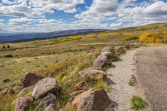 View from the top of Boulder Mountain in Utah Stock Image