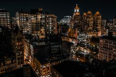 Nyc 14th Union Square building and street view stock photography