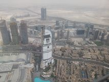 A view from the top of the burj khalifa. Dubai --> a wounderful city stock photo