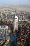 View from the top. Of Burj KhalifaDubai, the tallest building in the world Stock Image