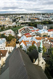 The view from the top of the Cathedral of St. Olaf  in old Talli Royalty Free Stock Photos