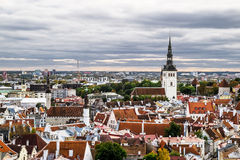 The view from the top of the Cathedral of St. Olaf  in old Talli Stock Photo