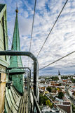 The view from the top of the Cathedral of St. Olaf  in old Talli Royalty Free Stock Images