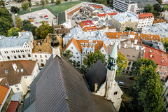 The view from the top of the Cathedral of St. Olaf  in old Talli Stock Photos