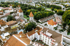 The view from the top of the Cathedral of St. Olaf  in old Talli Royalty Free Stock Photography