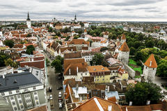 The view from the top of the Cathedral of St. Olaf  in old Talli Royalty Free Stock Image