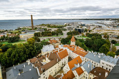 The view from the top of the Cathedral of St. Olaf  in old Talli Stock Images