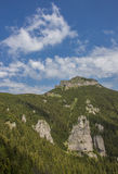 View on the top of the Ceahlau mountain range Royalty Free Stock Image